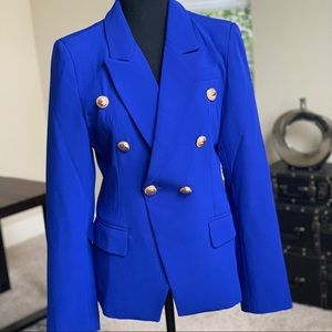 Double Breasted Royal Blue Blazer